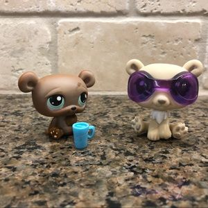 Polar Bear and Brown Bear Littlest Pet Shop LPS